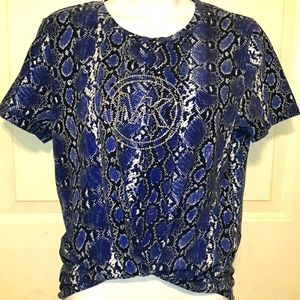 Beautiful MICHAEL KORS Python Print Women's Tee L